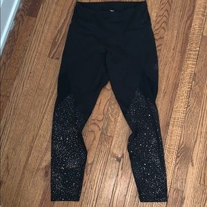 Old Navy Gold and mesh detailed leggings